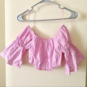 NWT S pink off the shoulder top